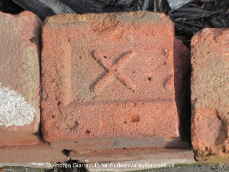 The brick manufacturer's name was sometimes on the brick.