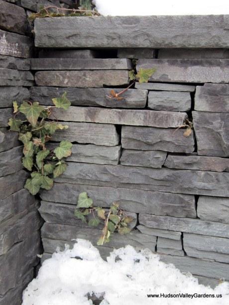 Dry-laid blue stone wall, www.HudsonValleyGardens.us