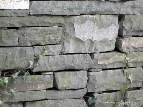 Dry stone wall, blue stone, from www.HudsonValleyGardens.us