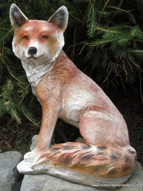 Fox sculpture, www.HudsonValleyGardens.us