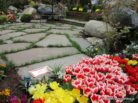 Stone patio, www.HudsonValleyGardens.us