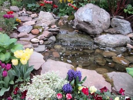Stream with waterfall, www.HudsonValleyGardens.us