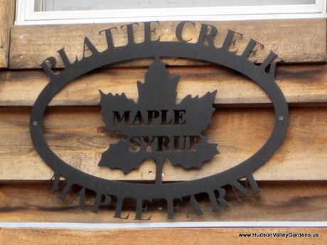 Platte Creek Maple Syrup sign. www.hudsonvalleygardens.us