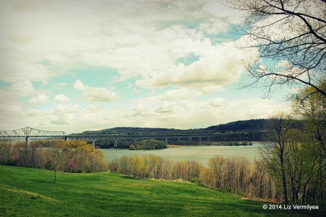 Rip Van Winkle Bridge in the spring NY. www.HudsonValleyGardens.us