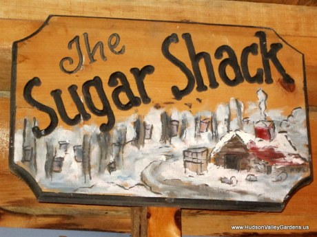 sugar shack sign. www.HudsonValleyGardens.us