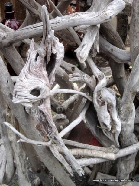 Garden Ornaments Hudson Valley Gardens: driftwood sculptures for garden